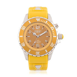 KYBOE Fall Collection Spicy Mustard 40MM LED Watch - Rotating Bezel - 100M Water Resistance