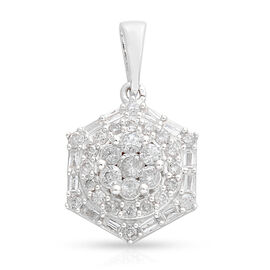 9K White Gold SGL Certified Diamond (Rnd) (I3/G-H) Pendant 0.750 Ct.