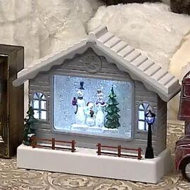 LED TV Water Scene With Santa