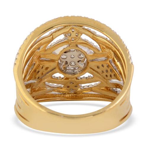 14K Yellow Gold Diamond (I1-I2/G-H) Ring 1.00 Ct, Gold wt 6.00 Gms