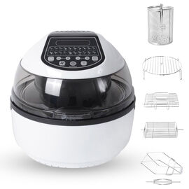 20 in 1 Air Fryer (Size 43x35x34 Cm) -  10 Litre Capacity - Black and White Colour