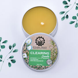 Utama Spice - Pure Beeswax Clearing Candle with Mint Essential Oil