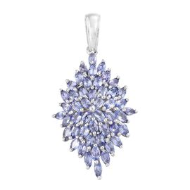 Tanzanite (Mrq) Pendant in Platinum Overlay Sterling Silver 4.000 Ct.
