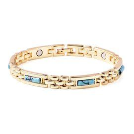 Blue Howlite (Bgt) Bracelet (Size 7.5) in Dual Tone 5.00 Ct.