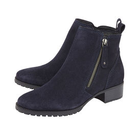 Lotus Stressless Navy Suede Samara Ankle Boots