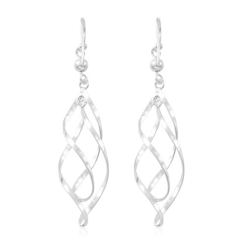 Vicenza Collection - Sterling Silver Swirl Hook Earrings, Silver wt. 3.89 Gms.