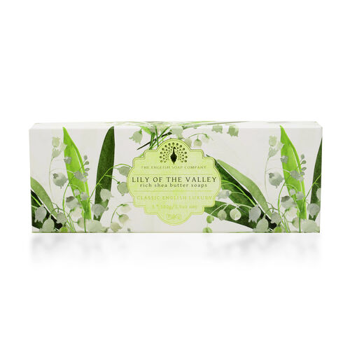 The English Soap Company:  Classic Gift Boxed Soap - Lily of the Valley (3 x 100g)