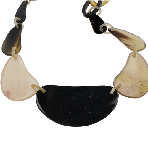 New Arrival- 100% Genuine Horn Made Tribal Style Necklace (Size 20)