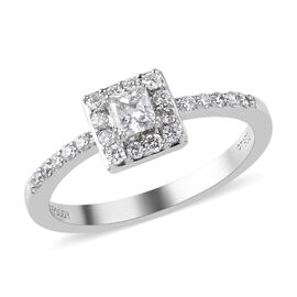 RHAPSODY 950 Platinum IGI Certified Diamond (VS/E-F) Ring 0.50 Ct, Platinum wt. 3.90 Gms