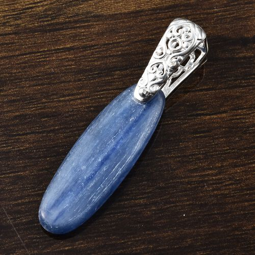 One Time Deal- Moon Kyanite (Ovl 30x10 mm) Sterling Silver Pendant  10.75 Ct.