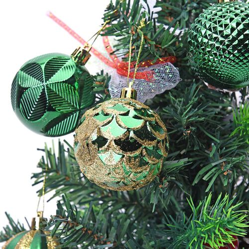 12 Piece Set Christmas Decoration Balls (Size 5.5mm) in the Gift Box - Green