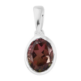 Finch Quartz (Ovl 10x8 mm) Pendant in Sterling Silver 3.000 Ct.