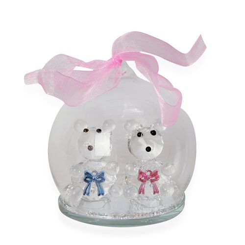 Crystal Ball Decorations - Bear (Size 8 Cm)