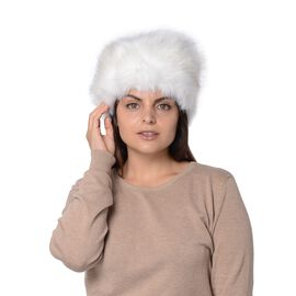 Super Soft Cossack Faux Fur Winter Hat - White