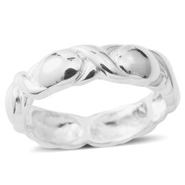 Sterling Silver Hugs and Kisses Band Ring.