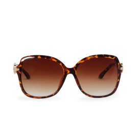 Leopard Print Fashion Sunglasses for Women - Brown Square