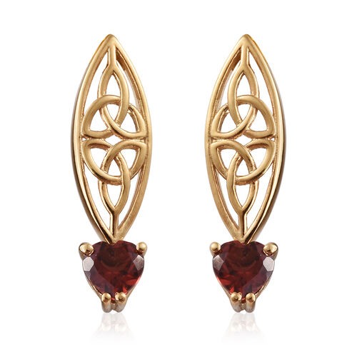 Mozambique Garnet (Hrt) Earrings in 14K Gold Overlay Sterling Silver 1.750 Ct.