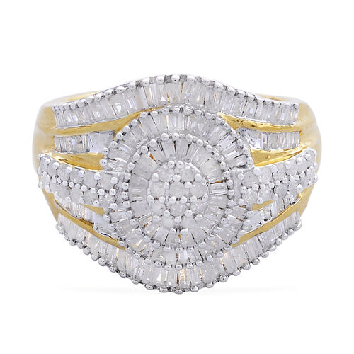 Diamond (Rnd) Ring in 14K Gold Overlay Sterling Silver 1.000 Ct.