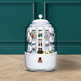 New Concept- 360 Degree Rotating Swivel Jewellery Organizer (30x20cm) - White
