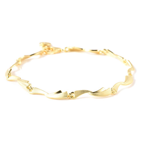 RACHEL GALLEY Yellow Gold Overlay Sterling Silver Bracelet (Size 7.5 with 0.5 inch Extender)