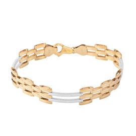 JCK Vegas Close Out- 9K Yellow, White Gold Bracelet (Size 7.5), Gold 8.54 Gms.