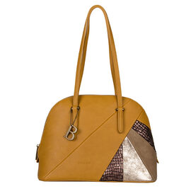 Bulaggi Collection - Flora Shoulder Bag (Size 33x24x14 cm) - Mustard