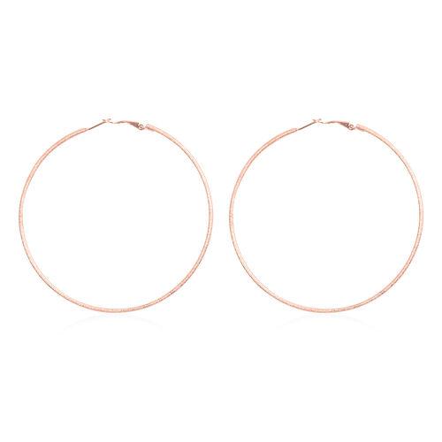 Large Hoop Earrings in Rose Gold Tone