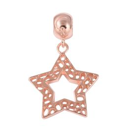 RACHEL GALLEY Rose Gold Overlay Sterling Silver Star Lattice Charm Pendant