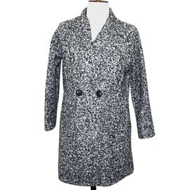 SUGAR CRISP Salt And Pepper 2 Button Collared Boucle Jacket One Size (10-18)