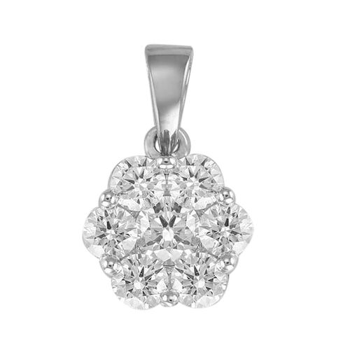 RHAPSODY 950 Platinum IGI Certified Diamond (VS/E-F) (Rnd) Pendant 0.500 Ct.