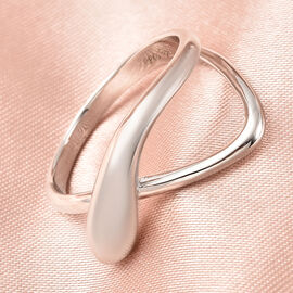 LucyQ Fluid Collection - Rhodium Overlay Sterling Silver Ring