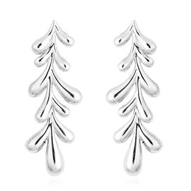 LucyQ Rhodium Overlay Sterling Silver Drop Dangle Earrings (with Push Back)