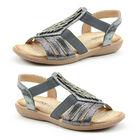 Heavenly Feet Agneta Womens Sandal in Pewter (Size 8)