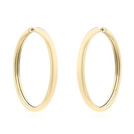 9K Yellow Gold Tube Hoop Earrings (with Clasp), Gold wt 3.60 Gms