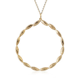 RACHEL GALLEY 9K Yellow Gold Pendant with Chain (Size 20), Gold wt 10.80 Gms.