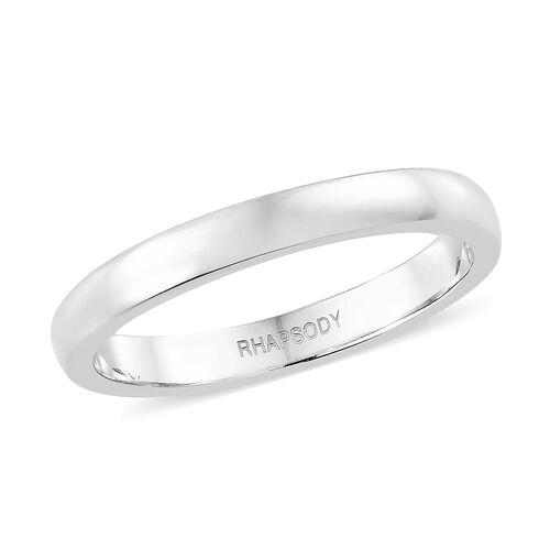 RHAPSODY High Finish Band Ring in 950 Platinum 4.39 Grams