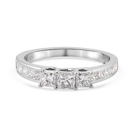 RHAPSODY 950 Platinum IGI Certified Diamond (VS/E-F) Ring 1.02 Ct.