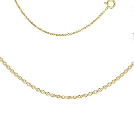 14K Gold Overlay Sterling Silver Rolo Chain (Size 24) with Spring Clasp