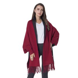 Designer Inspired Red and Black Colour Cardi Coat Size 94x45.5x10 Cm