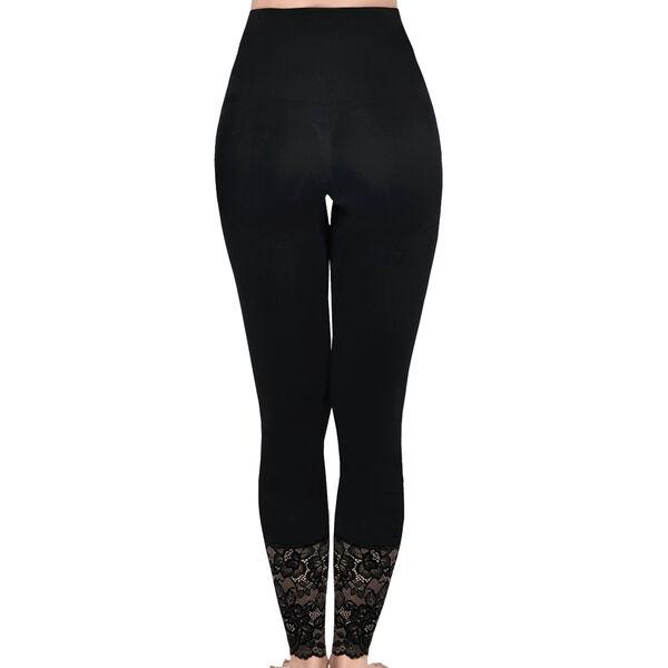 SANKOM SWITZERLAND Patent Shaper Leggings with Lace - Black (Size M-L, 12-18)