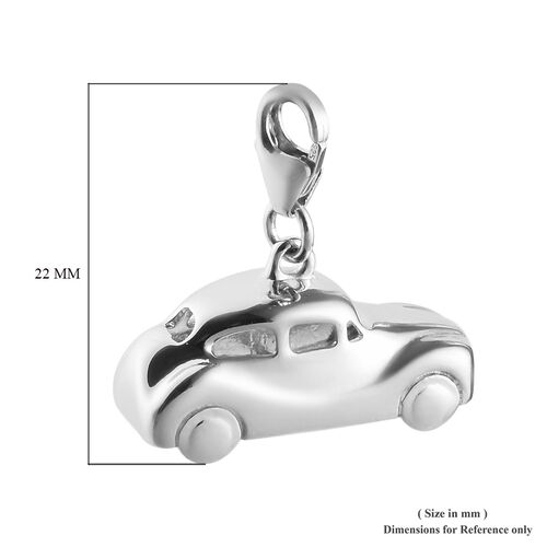 Charms De Memoire - Platinum Overlay Sterling Silver Car Charm