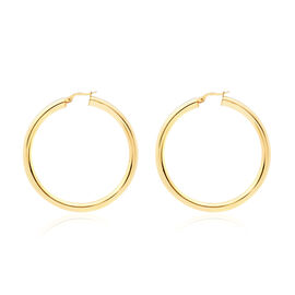 Hatton Garden Close Out Deal - 9K Yellow Gold Creole Earrings (with Clasp), Gold wt. 4.00 Gms.