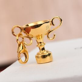 Charmes De Memoire 14K Gold Overlay Sterling Silver Trophy Cup Charm