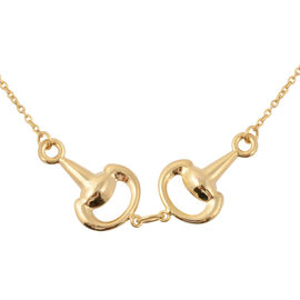 Snaffle Necklace in 9K Yellow Gold 2.50 Grams 17 with 1 Inch Extender