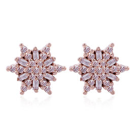 Natural Pink Diamond (0.33 Ct) 9K R Gold Earring  0.330  Ct.