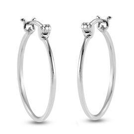 RHAPSODY High Finish Hoop Earrings in 950 Platinum 3.64 Grams