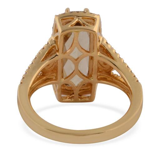 Collectors Edition- ILIANA 18K Yellow Gold Turkizite and Diamond Ring 4.40 Ct, Gold wt. 6.59 Gms