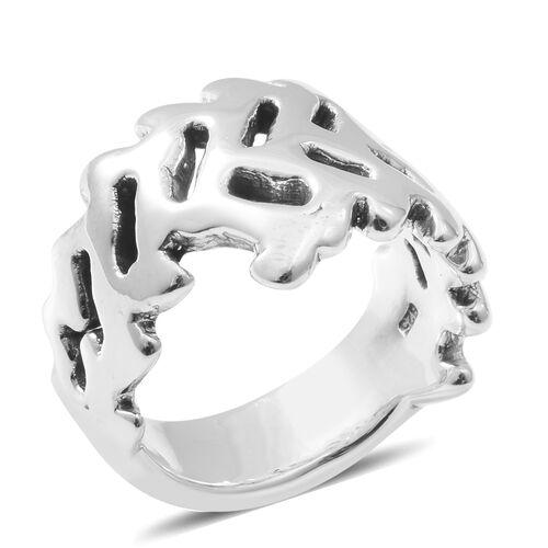 Rhodium Overlay Sterling Silver Ring