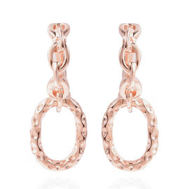 RACHEL GALLEY - Rose Gold Overlay Sterling Silver Dangle Latticework Earrings (with Clasp)
