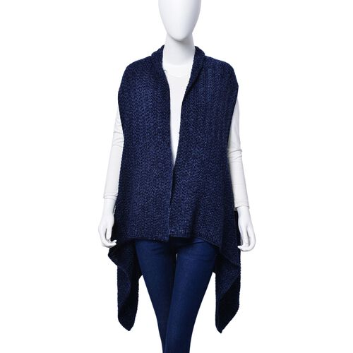 Navy and Light Blue Colour Wrap (Free Size)